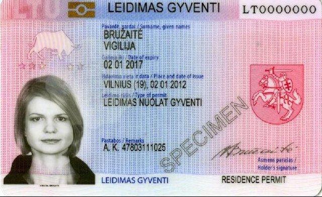 Как получить ВНЖ ( вид на жительство ) в Литве – правила для россиян
