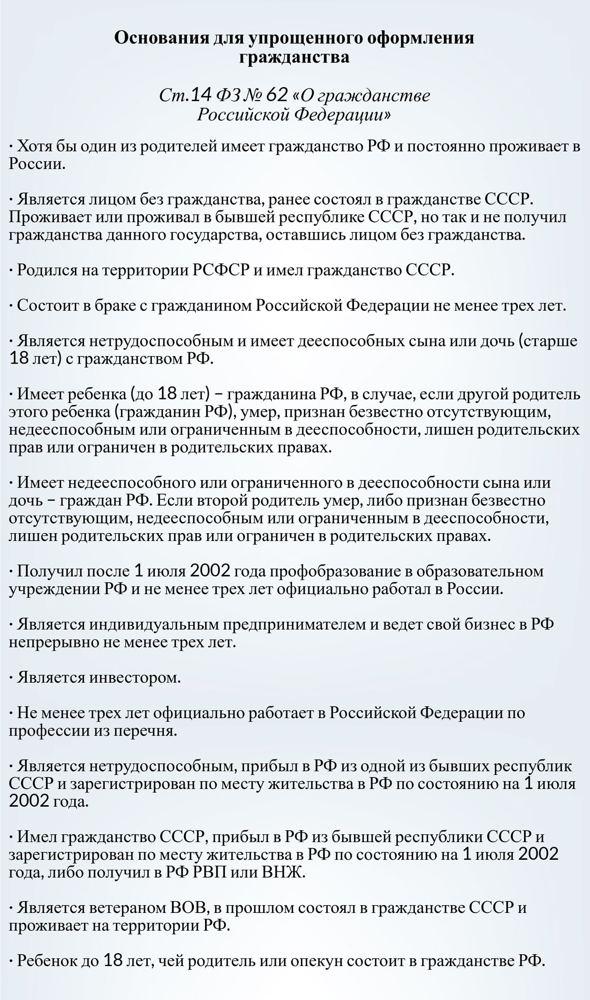 Как получить гражданство России украинцу в 2020 году